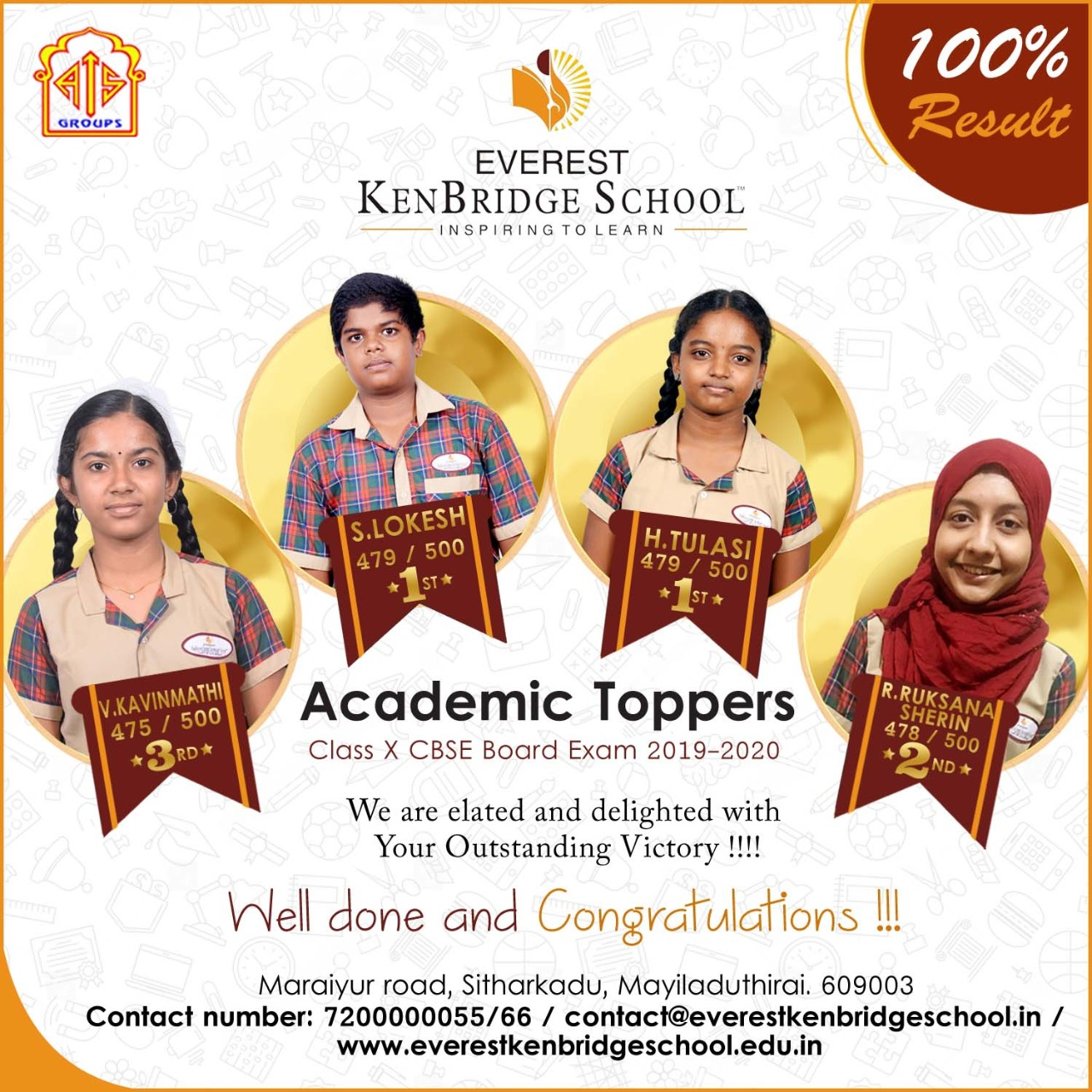 Academic Toppers in Class X